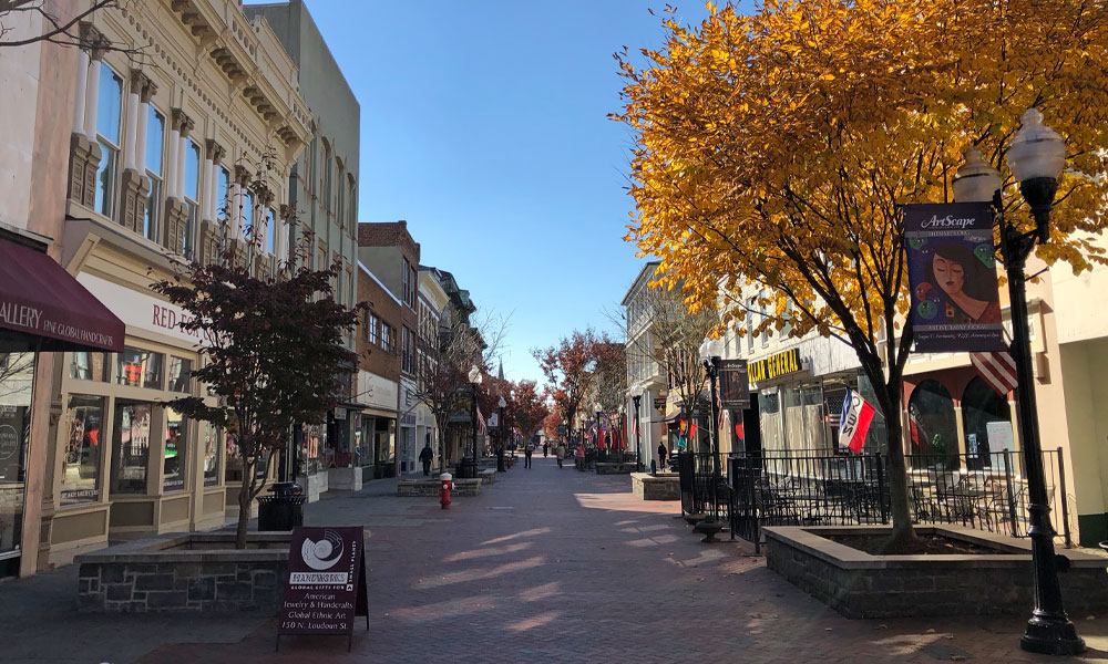 Old Town Winchester in Autumn