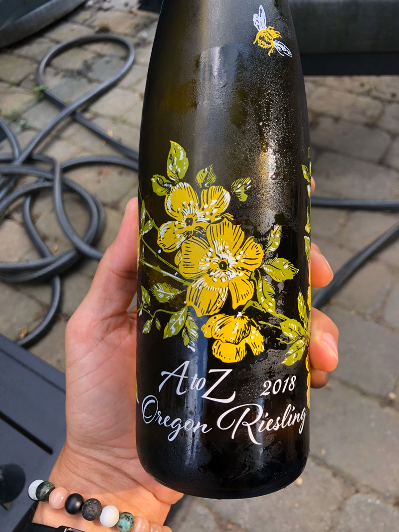 2018 A to Z Riesling label