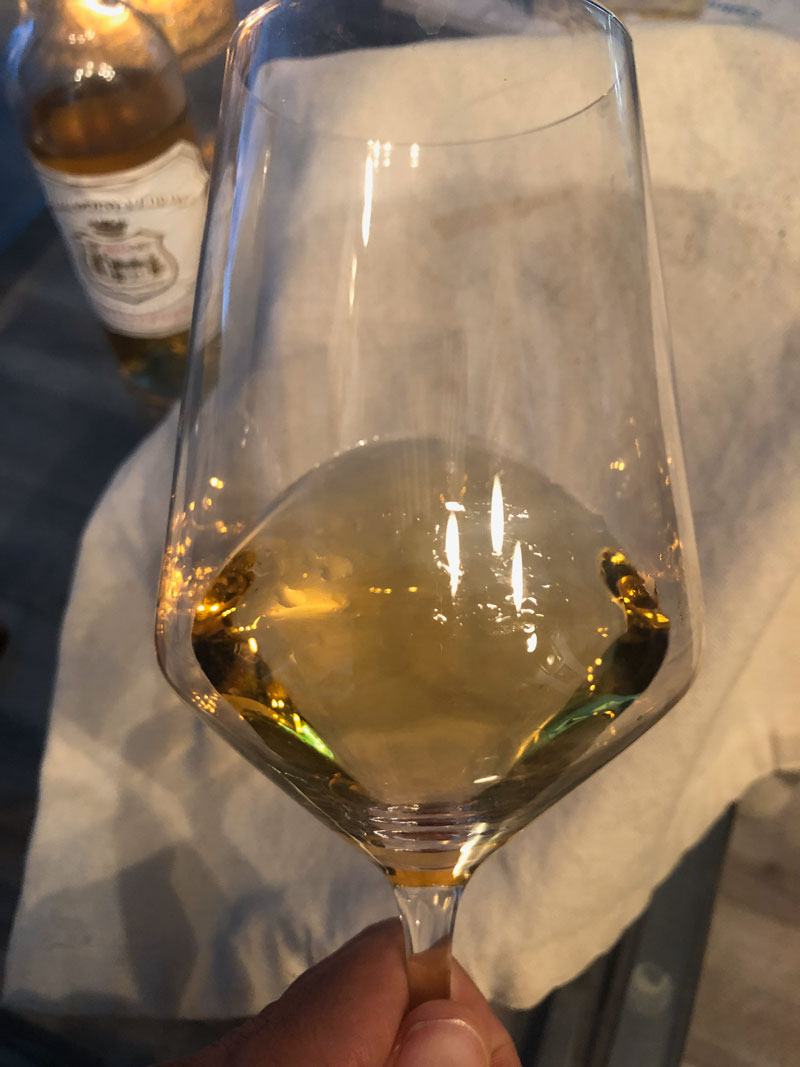 2014 Chateau Doisy-Vedrines Sauternes in the glass